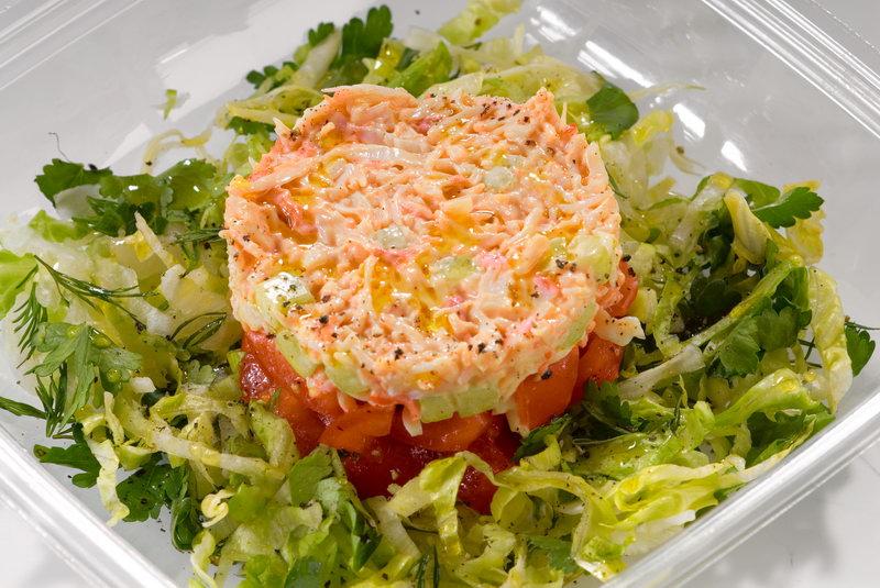 Вкусный салат из крабового мяса рецепты